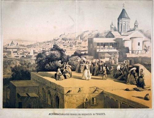 Грузинки Тифлис танцуют лезгингу